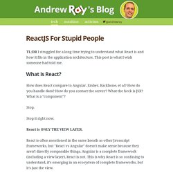 ReactJS For Stupid People