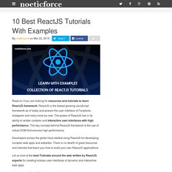 10 Best ReactJS Tutorials With Examples