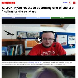 WATCH: Ryan reacts to becoming one of the top finalists to die on Mars