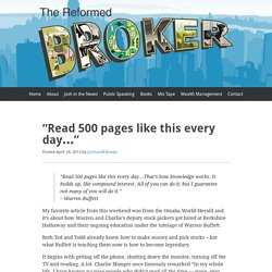 """Read 500 pages like this every day…"""