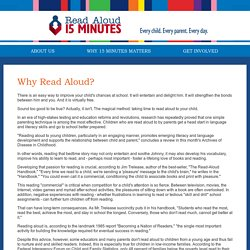 Read Aloud - Why Read Aloud