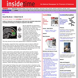 Read My Brain - I Didn't Do It - Inside Time Newspaper