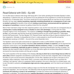 Read Editorial with D2G – Ep 420