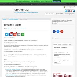 Read this First! - MTHFR.Net