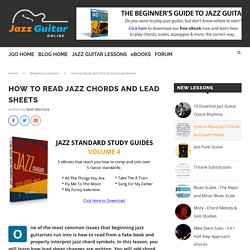 How to Read Jazz Chords and Lead Sheets