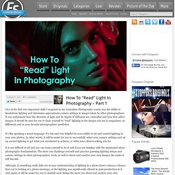 "How To ""Read"" Light In Photography – Part 1"