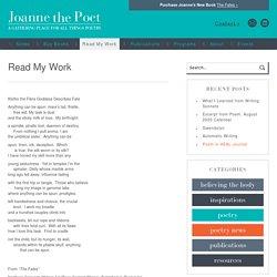 Read My Work - Joanne the Poet