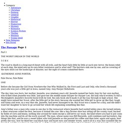 Read The Passage Page 1 read free novels online