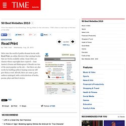 Read Print - 50 Best Websites 2010