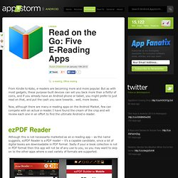 Read on the Go: Five E-Reading Apps