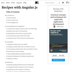 Read Recipes with Angular.js