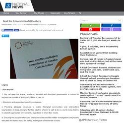 Read the 94 recommendations here - APTN NewsAPTN News