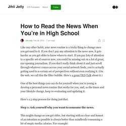 How to Read the News When You're in High School