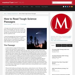 How to Read Tough Science Passages - GMAT