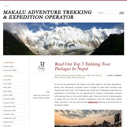 Read Out Top 5 Trekking Tour Packages In Nepal