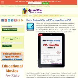How to Read and Write on PDF or Image Files on iPAD