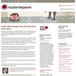 Read Write Prompt « Read Write Poem