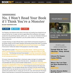 BOOK RIOTNo, I Won't Read Your Book if I Think You're a Monster