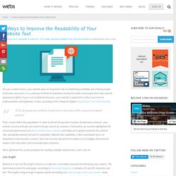 6 Ways to Improve the Readability of Your Website Text - Marketing Mojo for Small Business