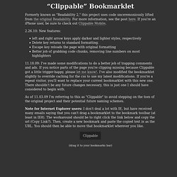 Readability Bookmarklet (Take 2)