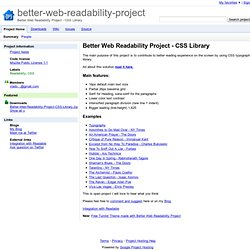 better-web-readability-project - Google Code