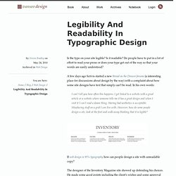 Legibility And Readability In Typographic Design | Van SEO Desig