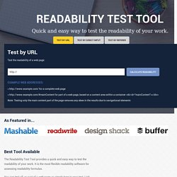 The Free Readability Test Tool - Readable