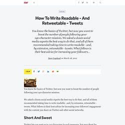 How To Write Readable - And Retweetable - Tweets