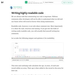 Writing highly readable code — Startups, Wanderlust, and Life Hacking