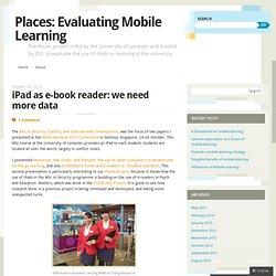 iPad as e-book reader: we need more data