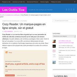 Cozy Reader. Un marque-pages en ligne simple, sûr et gratuit