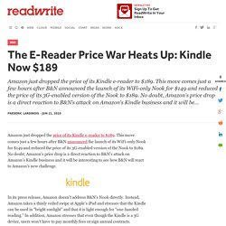 The E-Reader Price War Heats Up: Kindle Now $189