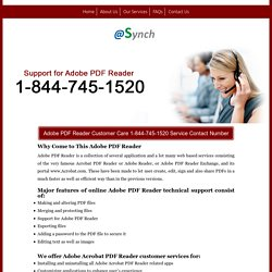 PDF Reader 1-844-745-1520 Technical Support/Help Number Mac
