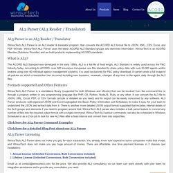 AL3 Reader / Translator to convert AL3 to JSON, CSV and PDF