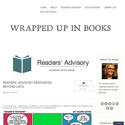 Readers' Advisory Resources: Beyond Lists