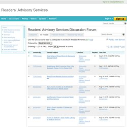 Readers' Advisory Services Forum - Readers' Advisory Services