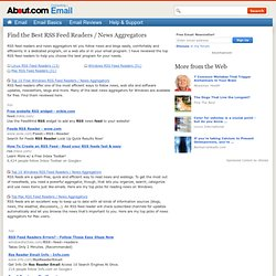 Find the Best RSS Feed Readers / News Aggregators - About Email Product Reviews