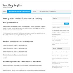 Free graded readers for extensive reading