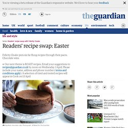 Readers' recipe swap: Easter
