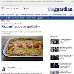 Readers' recipe swap: thrifty