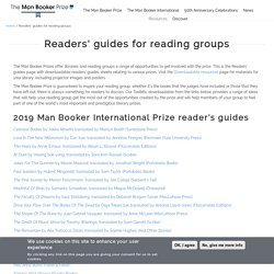 Readers' guides for reading groups
