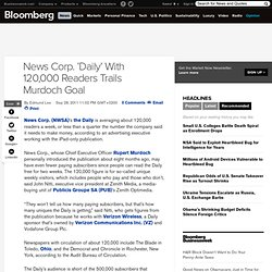 News Corp.'s 'Daily' Trails Murdoch Reader Goal