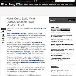 News Corp.'s 'Daily' Trails Murdoch Reader Goal