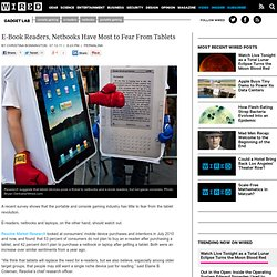 E-Book Readers, Netbooks Have Most to Fear From Tablets