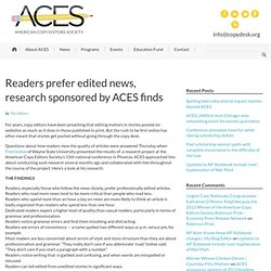 Readers prefer edited news, research sponsored by ACES finds - American Copy Editors Society