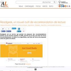 Readgeek, un nouvel outil de recommandation de lecture