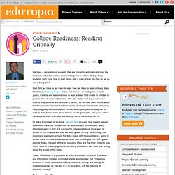 College Readiness: Reading Critically