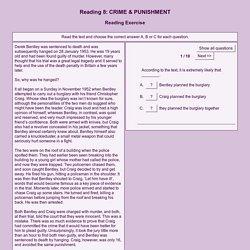 Reading 8: CRIME & PUNISHMENT