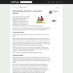 ESL Reading Activities - Interactive Games