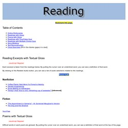 Reading: English reading activities and links for ESL/EFL students